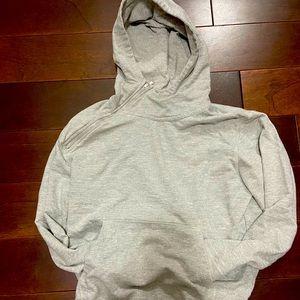 Side zip gray hoodie